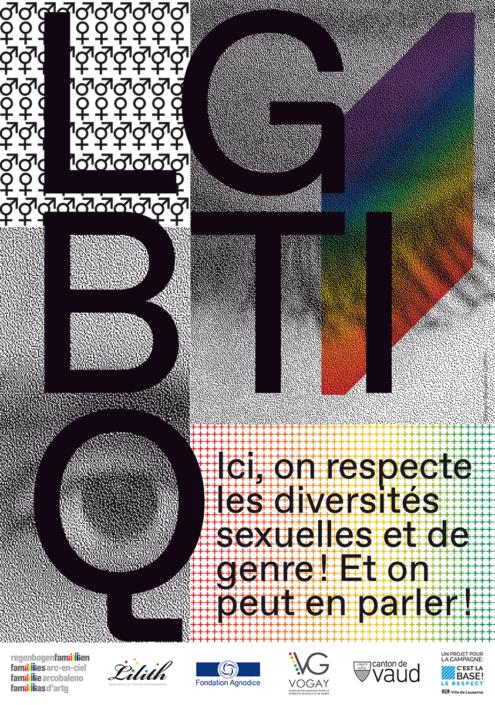 Affiche LGBTIQ Le respect c'est la base